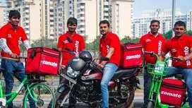 Available Zometo food delivery jobs immediately joining