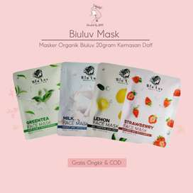 Biu Luv Masker Wajah Organik 20 Gram-Kemasan Printing Doff