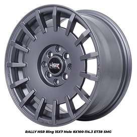 JUAL VELG RALLY HSR R15X7 H8X100-114,3 ET38 SMG