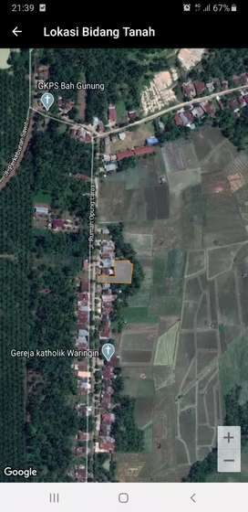 Dijual Tanah dan Rumah sederhana dengan luas Tanah 1270 m2