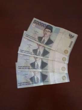 Uang 50000 th 1999 Asli