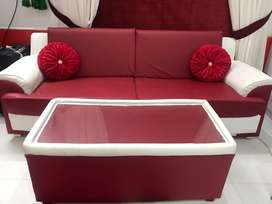 Red and white sofa 22000 only