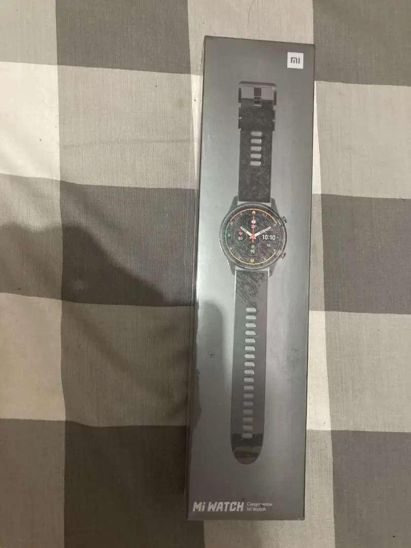 [Bisa COD] Baru Segel Mi Watch Xiaomi Smartwatch Hitam BNIB Black