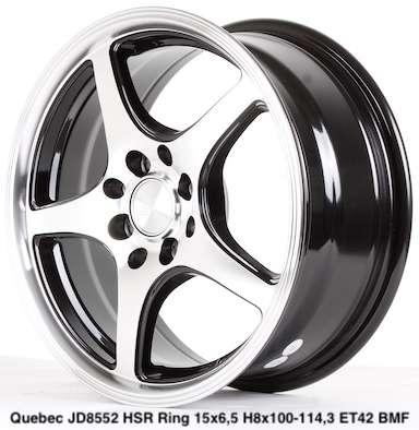 QUEBEC JD8552 HSR R15X65 H8X100-114,3 ET42 BMF 0
