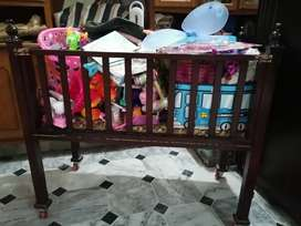 Wooden Baby Cot (Cart) (Never Used) pure wood