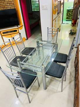 6 Chairs Dining Table Two glasses