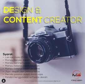Lowongan Kerja : Design + Content Creator Indonesia Vape Store