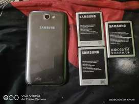 Samsung note 2(dead phn) and 3 batterys