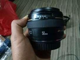 Lensa fix canon 50mm usm f1,4