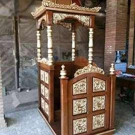 Mimbar masjid bahan jati