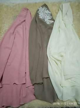 3 pcs khimar syari jilbab panjang wanita menutup dada bagus murah