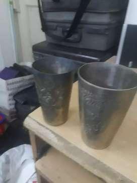 Antique brass glass