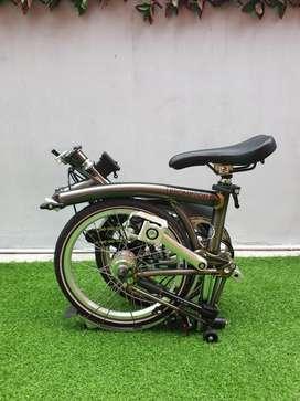Sepeda lipat brompton raw laquer H6L 2020