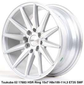JUAL VELG HSR WHEEL: TSUKUBA 02 17883 HSR R15X7 H8X100-114,3 ET35 SMF