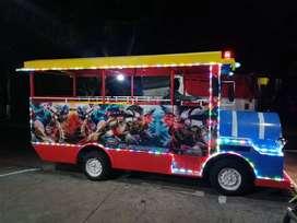 kereta mini wisata GAL odong odong lampuu led hias tiga warna