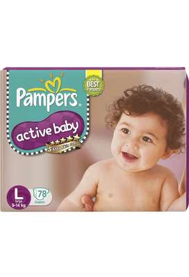 Pampers Active baby Taped Diapers Large