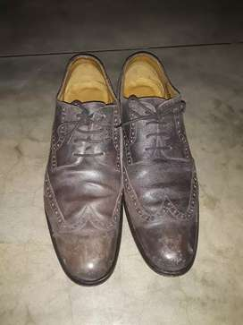 Billy Reid Distressed Leather oxford shoes