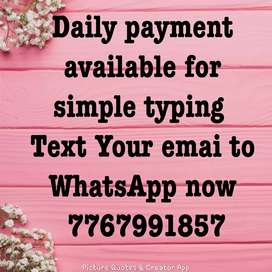 simple text typing work from home