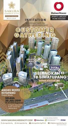 Sakura Apartemen dekat LRT Ciracas Jakarta Timur