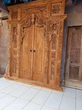 cuci gudang pintu gebyok gapuro jendela rumah masjid musholla yasiin