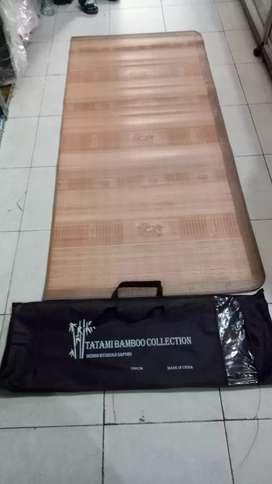 Tikar Lampit bambu, merk tatami bambu, 180 x 200 cm