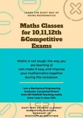 Maths tuition to be self dependent in higher classes