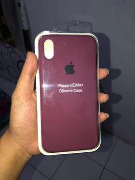 Case / casing silicone iPhone XS MAX masih segel