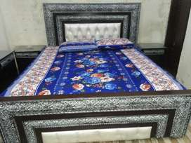 New king size bed with side tables,dressing