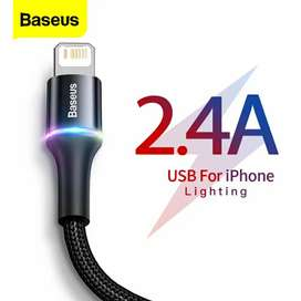 Baseus USB Cable For iPhone 11 Pro Xs Max Xr X 2.4A Fast Charging
