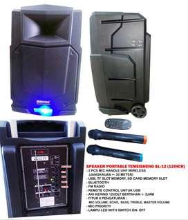 Bluetooth Speaker AKTIF Portable 15inc temeisheng +wireless Mic Handle