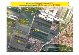 Tanah zona industri di Cirebon