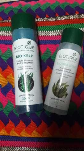 Biotique protein Bio Kelp Shampoo+Sea kelpConditioner(100%Organic)