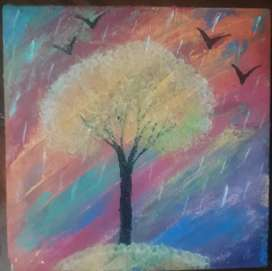 Acrylic Paining\Rain\Beautiful Tree