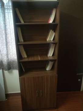 Multitpurpose Semi-Open Shelf  (Finish Color - Cairo wallnut)