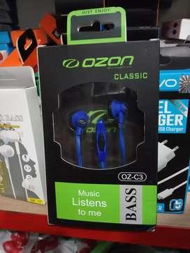 earphone/handsfree/headset-ozon classic-non karet-bs tlp-bass oke