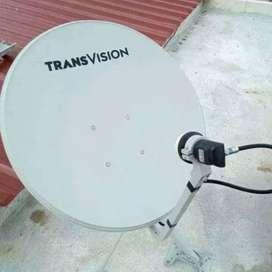 Parabola Transvision HD resmi kota Pekanbaru nonton puas gambar jernih