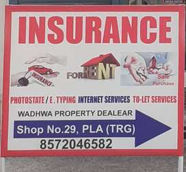 All type of vehicle Insurance (General Insurance)Life Insurance.
