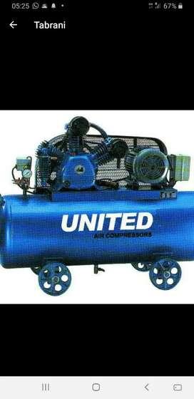 Dijual Compressor  united 5 hp lengkap dinamo 3 phase automatic