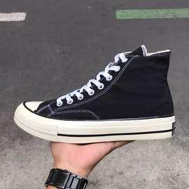 Sepatu Converse 70s high black white