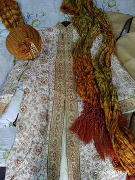 Sherwani with turban