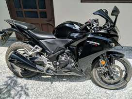 It Is A Pure Black Honda CBR 250R In Mint Condition