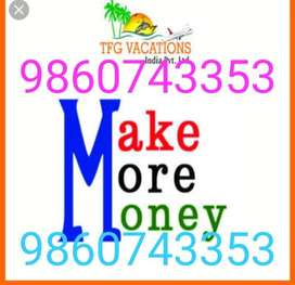 Great income platform for fresher's people in Tourism Company