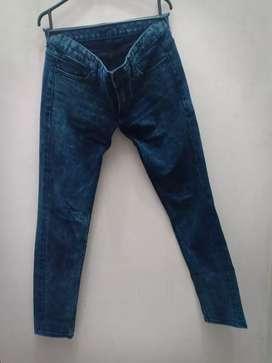 Celana Cewek Jeans Panjang Biru Size 28 Impor Murah