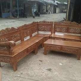 Kursi tamu mewah Jati Ukir Asli Jepara No DP free Ongkir cod murah