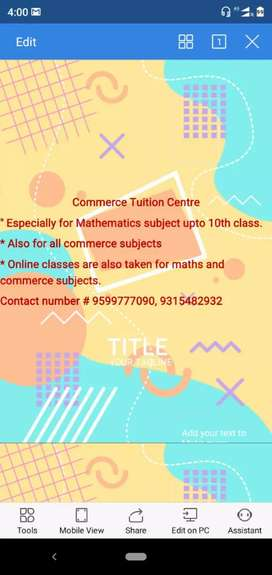 Online tuition available for students