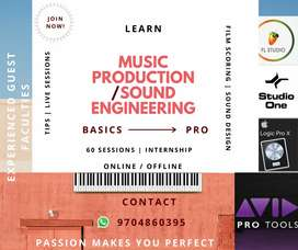 LEARN MUSIC PRODUCTION/SOUND ENGINEERING