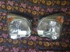 Sealed Headlights of Suzuki Spacia and custom side mirror front bumper