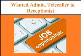 Female Front Office, Receptionist, Administration Executive