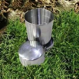 Mug stainless steal / gelas camping