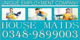 The UNIQUE= HOUSEMAIDS R Available Options-HIGHLY Reliable & TRAINED